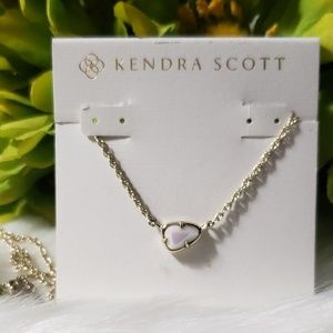 KENDRA SCOTT MOTHER OF PEARL GOLD TONE NECKLACE